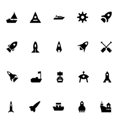 Aircraft and ships icons 3 vector