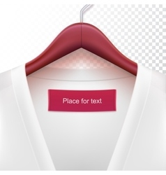 Jacket with clothes hanger vector