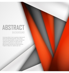 Abstract background of orange white and black vector image vector image