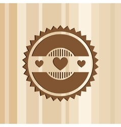 Abstract logo template with heart vector image
