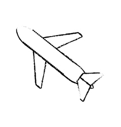 Airplane travel business vacation sketch vector