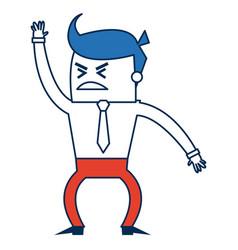 Cartoon business man success people gesture vector