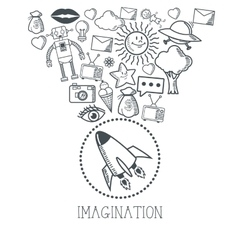 Doodle icon design cartoon icon draw concept vector