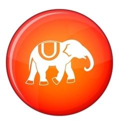 Elephant icon flat style vector