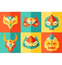 Ethnic origami carnival mask vector