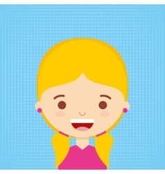 female avatar design vector image vector image
