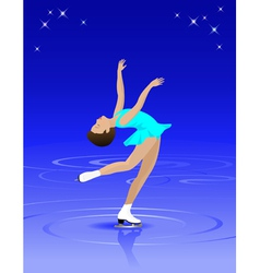 Female Figure Skater vector image