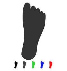 Foot flat icon vector