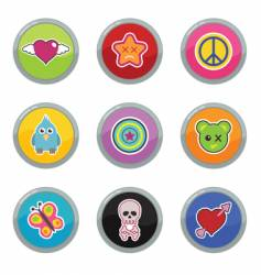 funky buttons vector image vector image