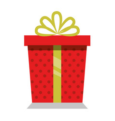 giftbox present isolated icon vector image