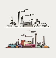 Industry concept industrial enterprise factory vector