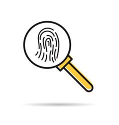 line icon - fingerprint research vector image vector image