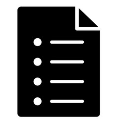 List page flat icon vector