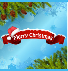 Merry christmas background banner vector