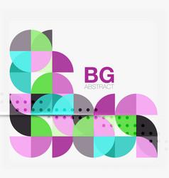 modern elegant circle banner vector image