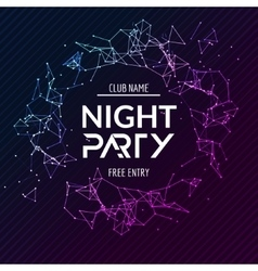 Night Party poster Shiny banner club disco Dj vector image vector image