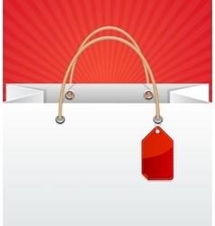Paper Bag Background Sale vector image