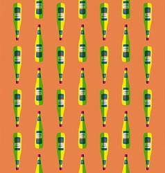 pop art liquor bottle seamless pattern vector image vector image