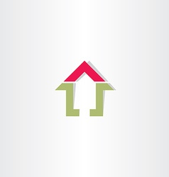 Real estate home sign vector