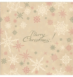 Retro christmas background with snowflakes vector image