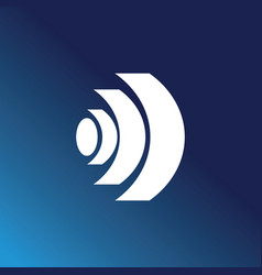round sgape technology logo vector image
