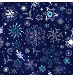 seamless dark blue Christmas wallpaper vector image vector image