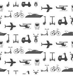 seamless pattern with transportation icons vector image