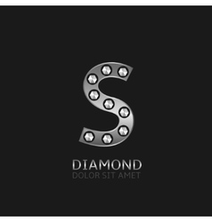Silver s letter vector