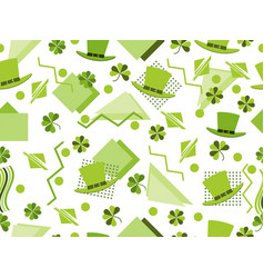 st patricks day seamless pattern with clover and vector image vector image