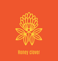 thin line icon honey clover vector image