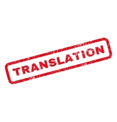 Translation rubber stamp vector