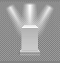 white empty podium isolated on transparent vector image vector image