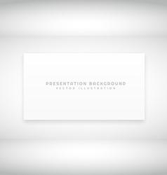 white presentation background vector image