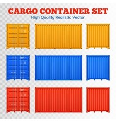 Cargo Container Transparent Set vector image