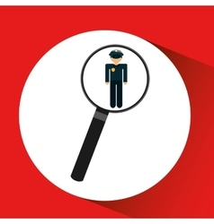 Human resources searching police man graphic vector