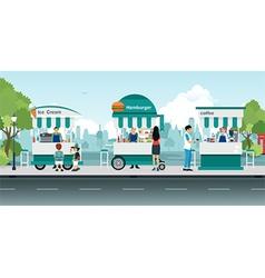 Street food cart vector image