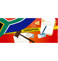 South africa corruption money bribery financial vector