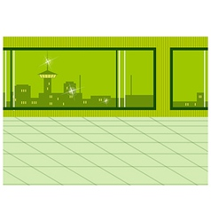 Window city view vector