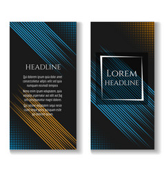 Business brochure template with motion lines vector