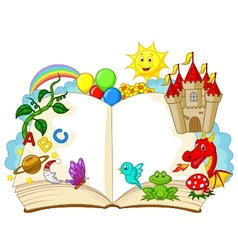 Fantasy book cartoon vector
