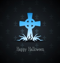 grave cross vector image