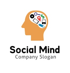 Social mind design vector