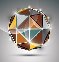 Abstract 3d metal festive sphere with sparkles vector