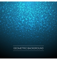 Abstract background with dotted grid and vector image vector image