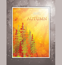 Autumn scene background vector