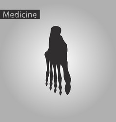 Black and white style icon of foot skeleton vector