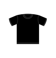 Black t-shirt template isolated clothing on white vector