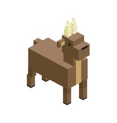 Bull modular farm animal plastic lego toy blocks vector