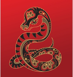 Chinese horoscope Year of the snake vector image vector image