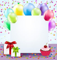 Colorful Birthday Card vector image vector image